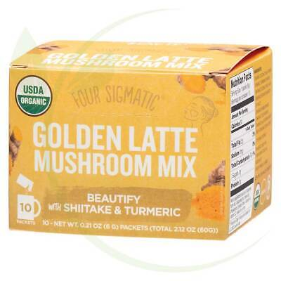 FOUR SIGMATIC - Mushroom Golden Latte Mix Packets With Shiitake & Turmeric 10x6g