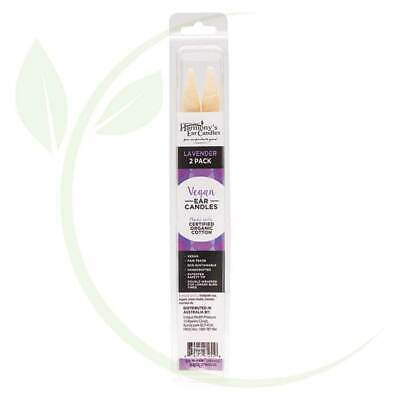 HARMONY'S EAR CANDLES - Vegan Ear Candles Lavender Scented 2 pack