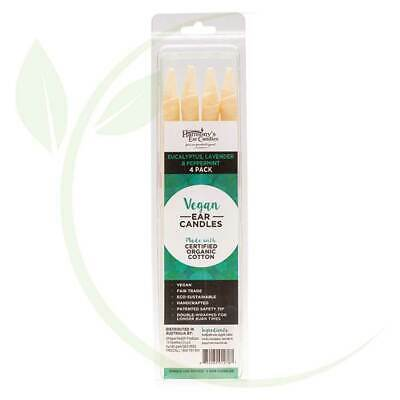 HARMONY'S EAR CANDLES - Vegan Ear Candles Eucalyptus, Lav & Peppermint 4 pack