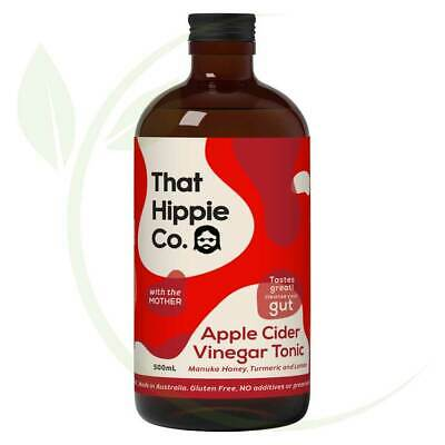 THAT HIPPIE CO. - Apple Cider Vinegar Tonic Contains The Mother 500ml