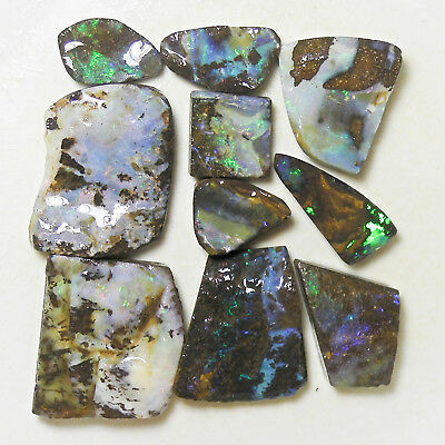 AUSTRALIAN NATURAL BOULDER OPAL 194 c ROUGH RUB PARCEL OCA10465