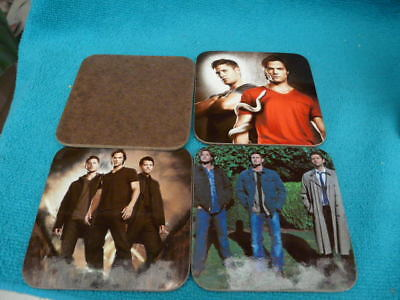 4 Lovely Mint Condition   Supernatural Coasters No Box