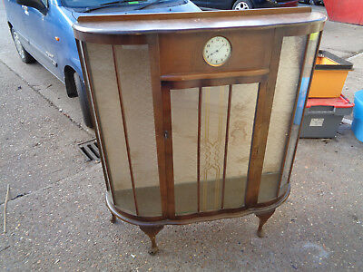 Vintage Art deco display cabinet with smiths clock LOTCDG4GXH
