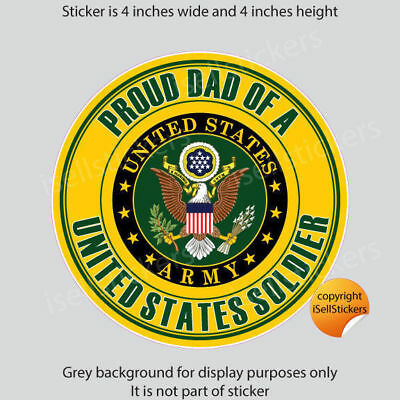 AR-2259 Proud Dad of a US Army Soldier Military Bumper Sticker Window Decal