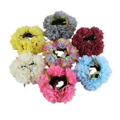 Women Fashion Multicolor Flower Elastic Hair Band Rope Ponytail Hair Rope Z