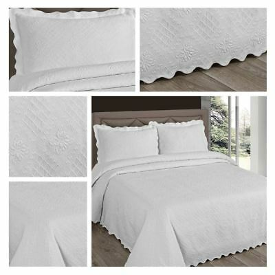 White Floral Bedspreads Anne Marie Luxury Woven Bed Spread Blankets Bedding