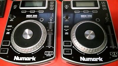 Numark Ndx 200 Turntable Dj Pair (2) With Connection Wires