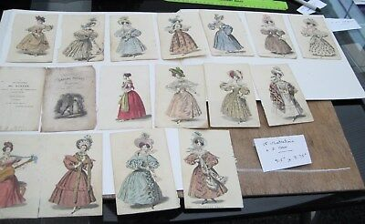 Early Fashion Prints Dated 1831 Hand Colour Original Excellent Condition 17 Item