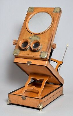 A Magnificent Very Large Antique French Stereoscope Stereoviewer Cdv Stereoview