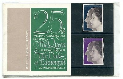 GB: 1972 Royal Silver Wedding Presentation Pack No 45 VGC (BZ263)