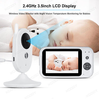 "3.5"" Baby,Pet Monitor 2.4GHz Color LCD Night Vision Wireless Digital Video Talk"