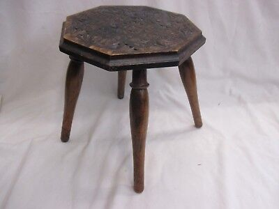 Admirable Small Wooden Carved Four Legged Octagonal Stool B 30 00 Ibusinesslaw Wood Chair Design Ideas Ibusinesslaworg