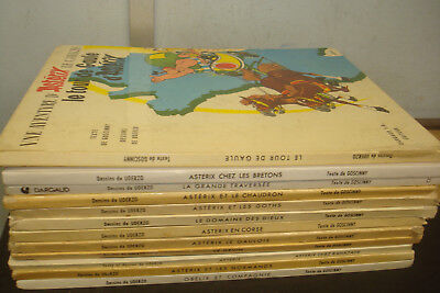 Set of 12 French Language Asterix  Books, Mixed Condition & Age