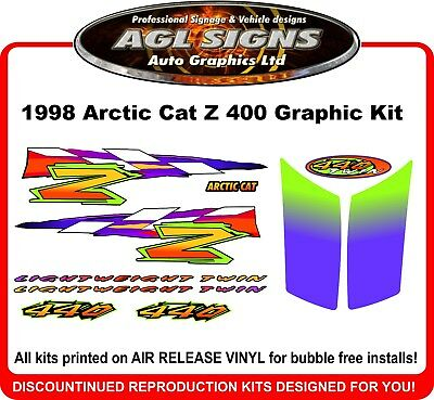 1998 ARCTIC CAT Z 440  Reproduction Graphic Kit     decal stickers