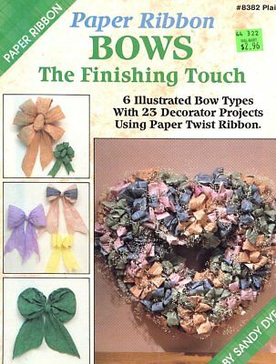 Paper Ribbon Bows The Finishing Touch PATTERN/INSTRUCTION Leaflet Plaid 8382
