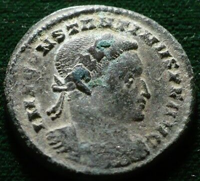 Ancient Roman Imperial Constantine I The Great Ad 307-37 Follis Ae Pln Mint Coin