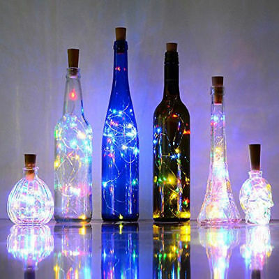 HOT 15LED LED Cork Wine Bottle Stopper Copper Wire String Lights Fairy Lamps AY