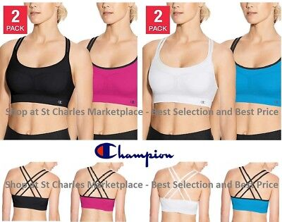 b3768cf453a3a Champion Women s Seamless Criss Cross Sports Bra - 2 Pack - Pick Color and  Size!