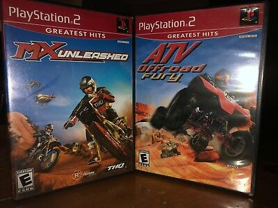 Playstation 2 ATV Offroad Fury and MX Unleashed bundle!