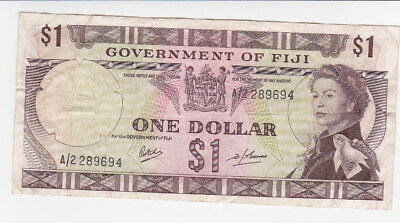 1 Dollar Fine Banknote From Former British Colony Of Fiji 1969!pick-59