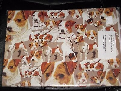"""Jack Russell Terrier JRT DOG Wrapping Paper 4 Sheets 19.5"""" x 27.5"""" Gift Wrap"""