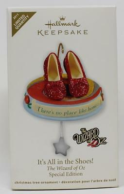 2011 Hallmark Ornament Limited Quantity Wizard of Oz It's All in the Shoes!