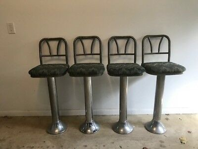 Vintage 1950-60 chrome swivel diner stools - excellent condition