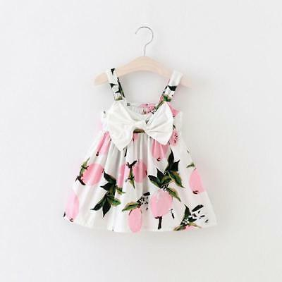 S-1218P Pink Fruit Sundress w/Bow  (Ready to Ship from Ohio)(Free Shipping)