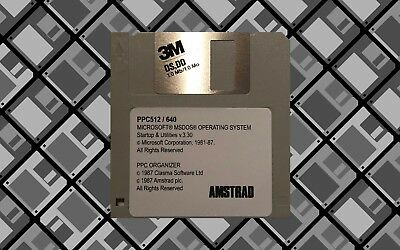System Floppy Disk For The Amstrad Ppc640 Ppc512 Msdos 3.3 Startup - Free P&p!