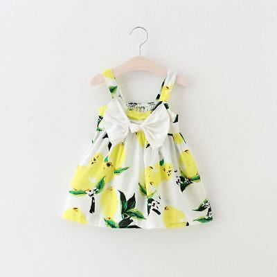 S-1218Y Yellow Fruit Sundress w/Bow  (Ready to Ship from Ohio)(Free Shipping)