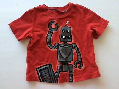 Circo Baby Boy's T-shirt Size 12 months * Red Gray Robot