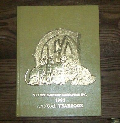 1981 The Cat Fanciers Association Annual Yearbook CFA - hardcover