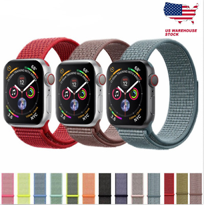 NYLON SILICONE SPORT STRAP BAND BRACELET FOR APPLE WATCH 4/3/2/1 38/40/42/44mm