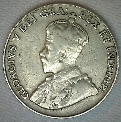 1926 N6 Canadian Nickel 5 Cents Coin Five Cent George V Canada Type Coin VG #M13