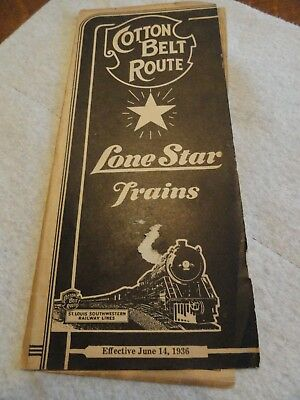 1936 Cotton Belt Railroad TimeTable