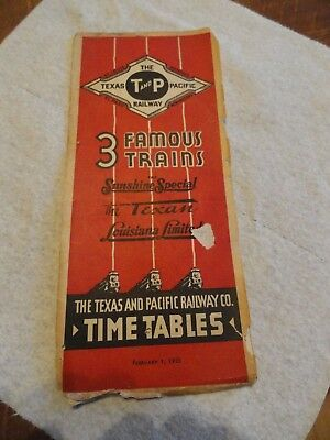 1935 Texas & Pacific (T&P) Railroad TimeTable