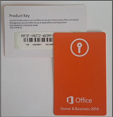 Microsoft Office 2016 Home and Business PKC 1 PC  Win, Deutsch (T5D-02808)