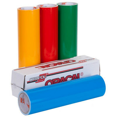 "Oracal 651 Vinyl - Get 5 Rolls/Colors at $9 Each 12""x10' Glossy Adhesive Decals"