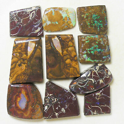 AUSTRALIAN NATURAL BOULDER OPAL 244c ROUGH RUB PARCEL OCA10471
