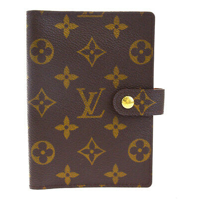 Auth LOUIS VUITTON Agenda PM Day Planner Cover Monogram Brown R20005 07EM151