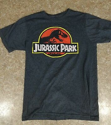 Jurassic Park Men's Classic Official Logo Licensed T-Shirt Size M