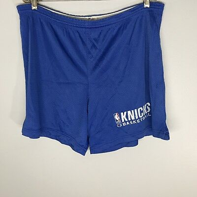 Vintage Early 90s New York Knicks Champions Shorts Size X-Large Blue Made In USA