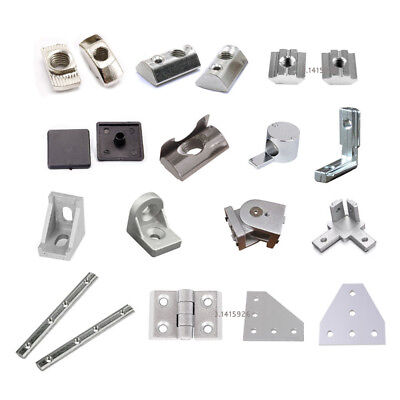 T Nuts & Right Angle End Cap Corner Bracket For 2020 Aluminium Extrusion Profile