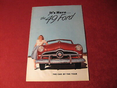 1949 Ford Huge Showroom Original Brochure Sales Catalog Old Book Booklet Nice