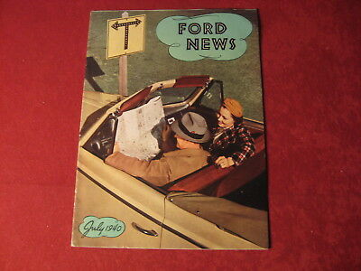 1940 Ford News July Showroom Original Brochure Sales Catalog Old Book Booklet