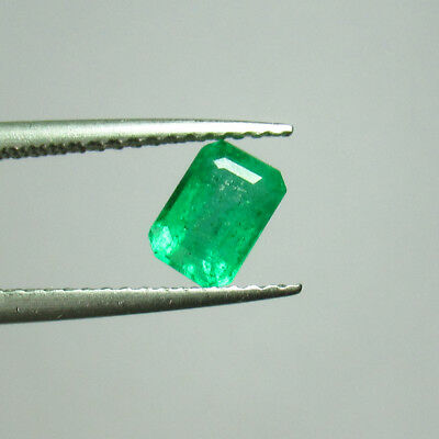 0.80 Ct - Natural Emerald - Good Luster Green Color Octagon Cut Zambia Untreated