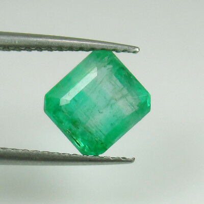 2.06 Ct - Natural Emerald - Lovely Luster Good Green Octagon Cut - Zambia