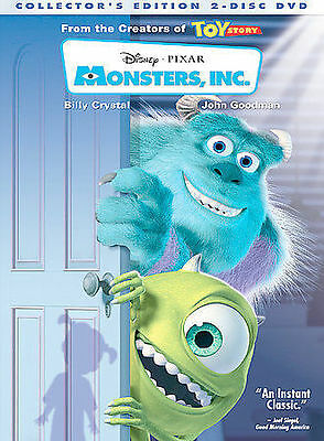 Monsters, Inc. (DVD, 2002, 2-Disc Set, Collectors Edition) VERY GOOD