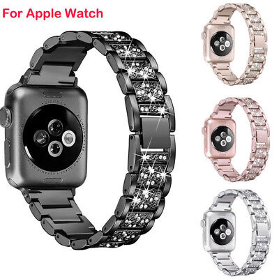 For Apple Watch Series 4/3/2/1 iWatch Band Stainless Steel Strap 38/40/42/44mm