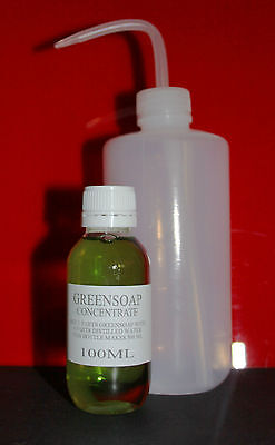 Tattoo Green Soap Concentrate & Squeeze Bottle Stencils Makes 500mls Greensoap